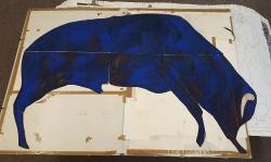 ultramarinblauer-stier